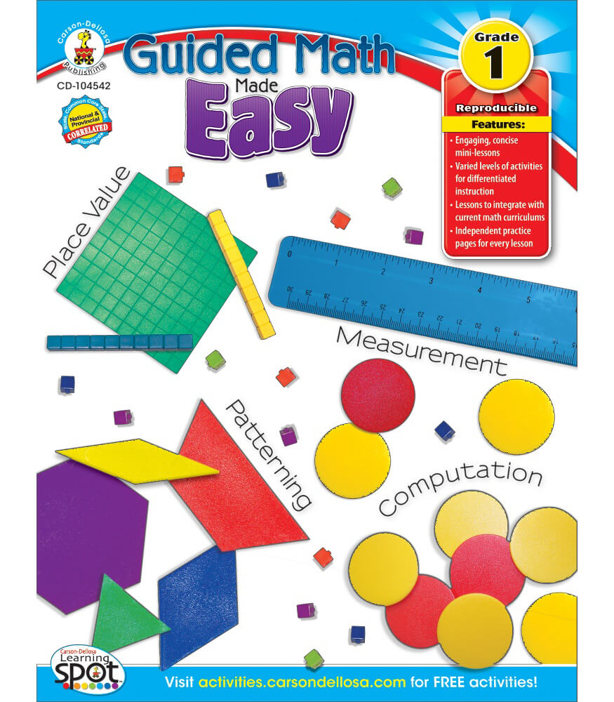 guided math made easy resource book grade 1