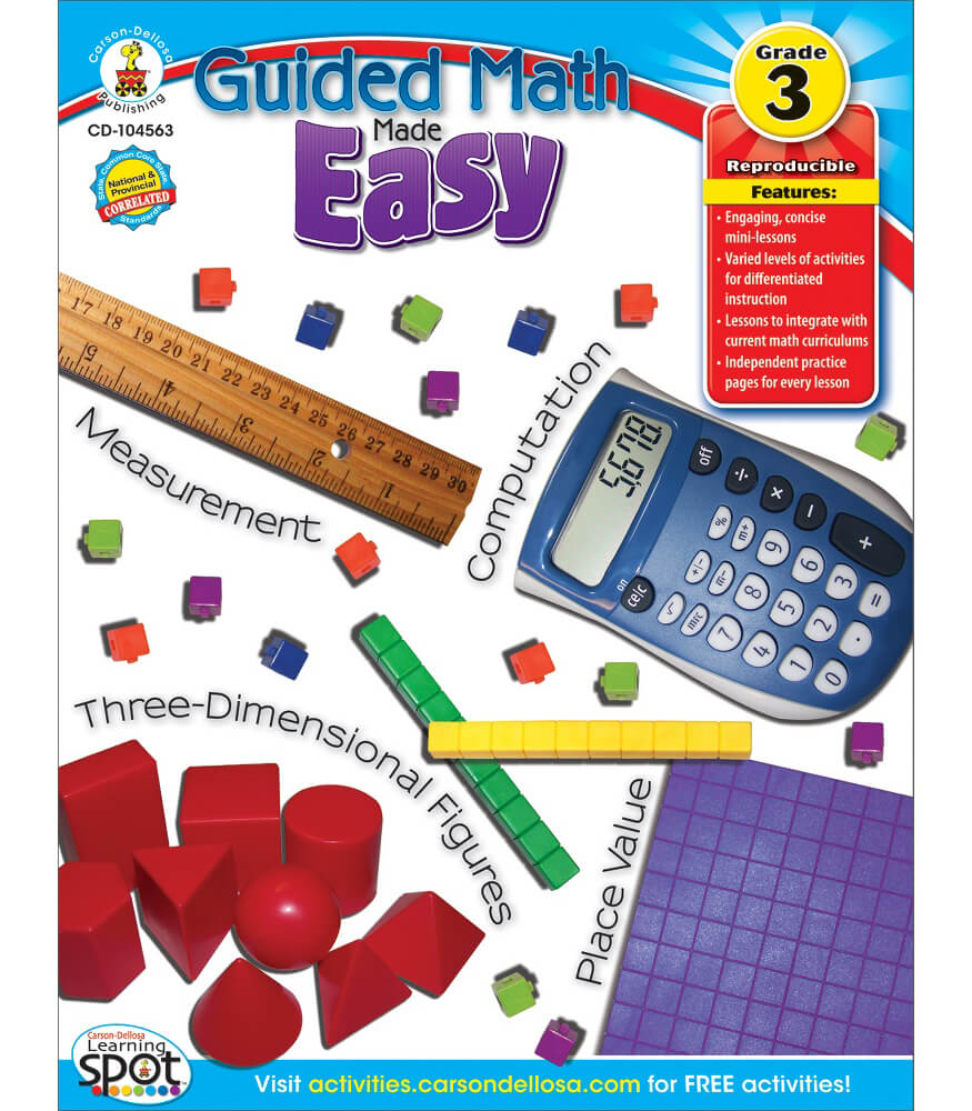 guided math made easy resource book grade 3