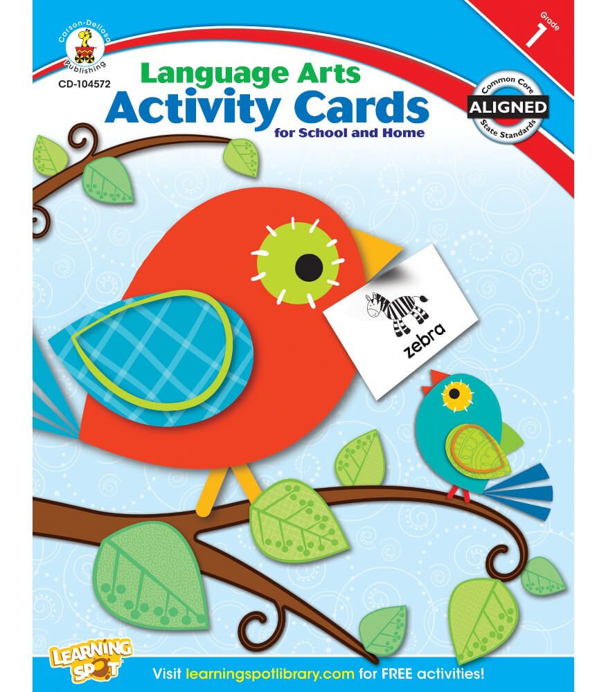 Language Arts Activity Cards for School and Home Resource Book Product Image