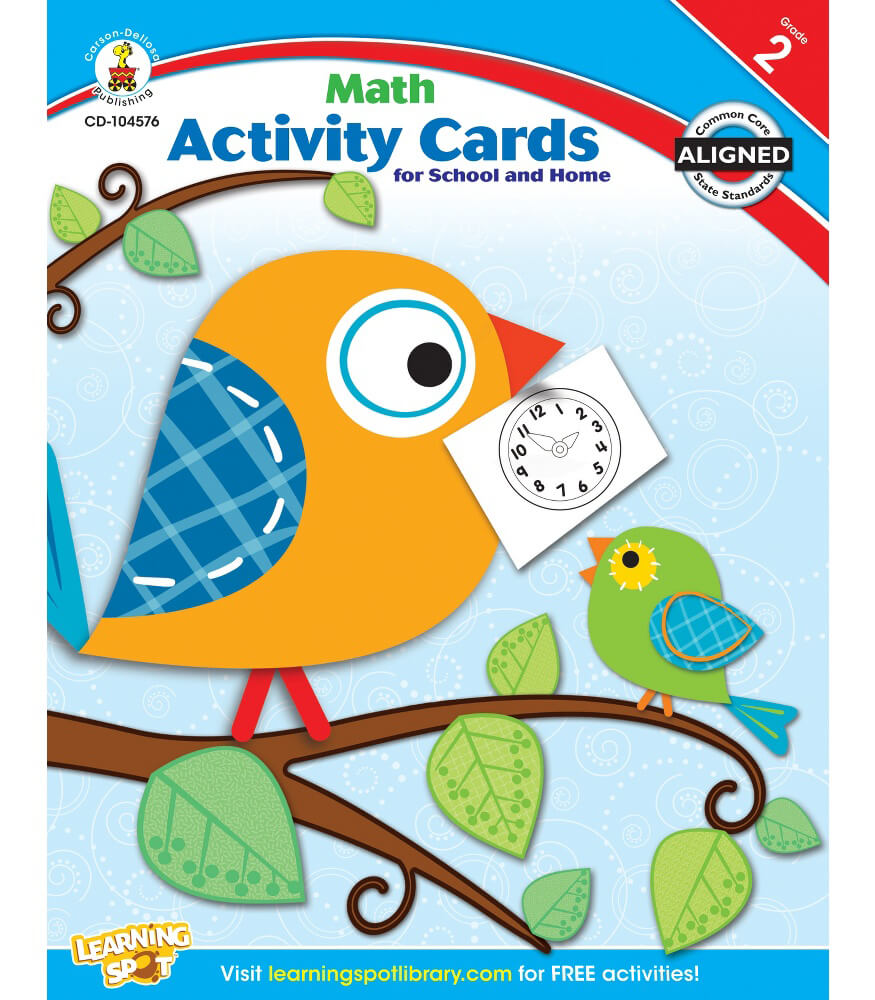 Math Activity Cards for School and Home Resource Book Product Image