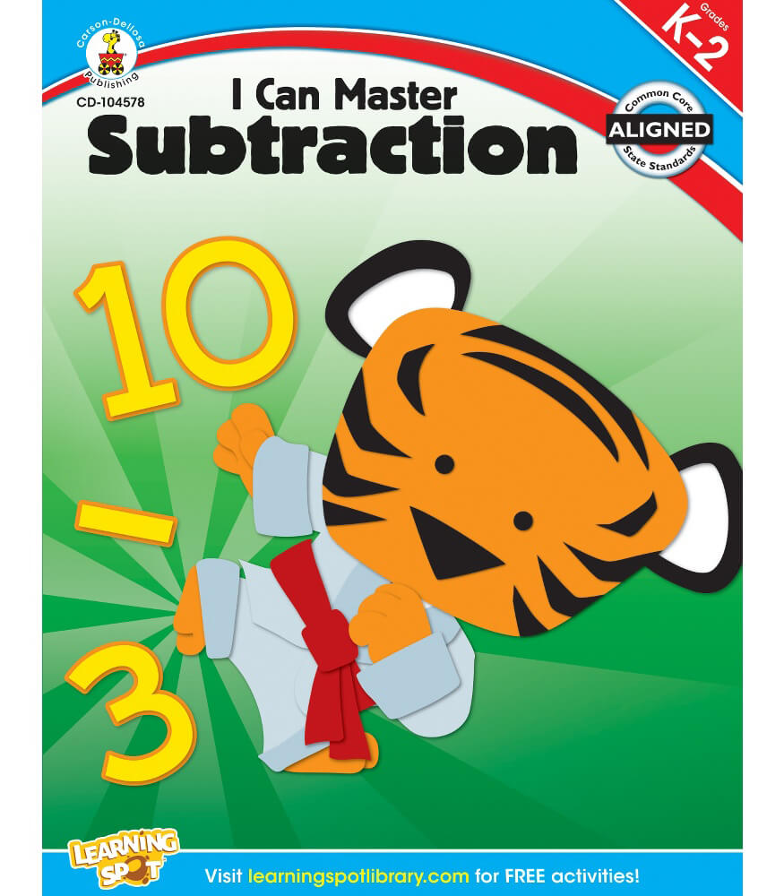 I Can Master Subtraction Workbook Product Image