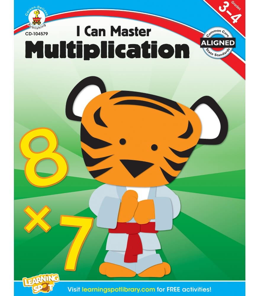 I Can Master Multiplication Workbook Product Image