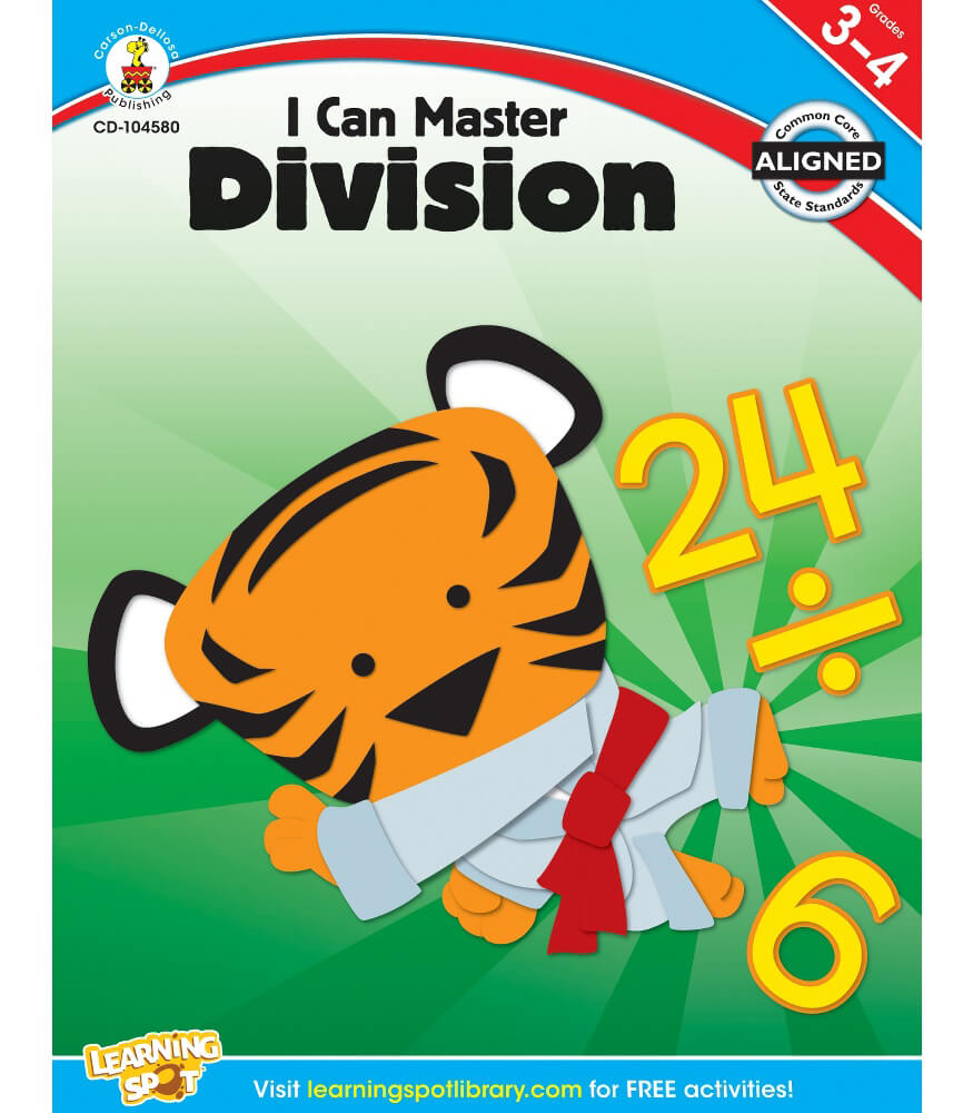 I Can Master Division Workbook Grade 3-4