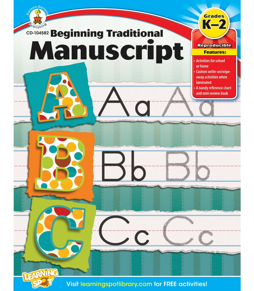 Beginning Traditional Manuscript Workbook Product Image