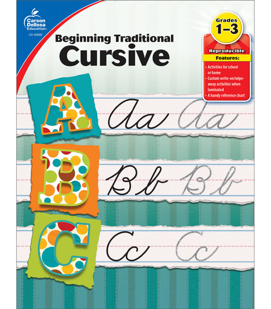 Beginning Traditional Cursive Workbook Product Image