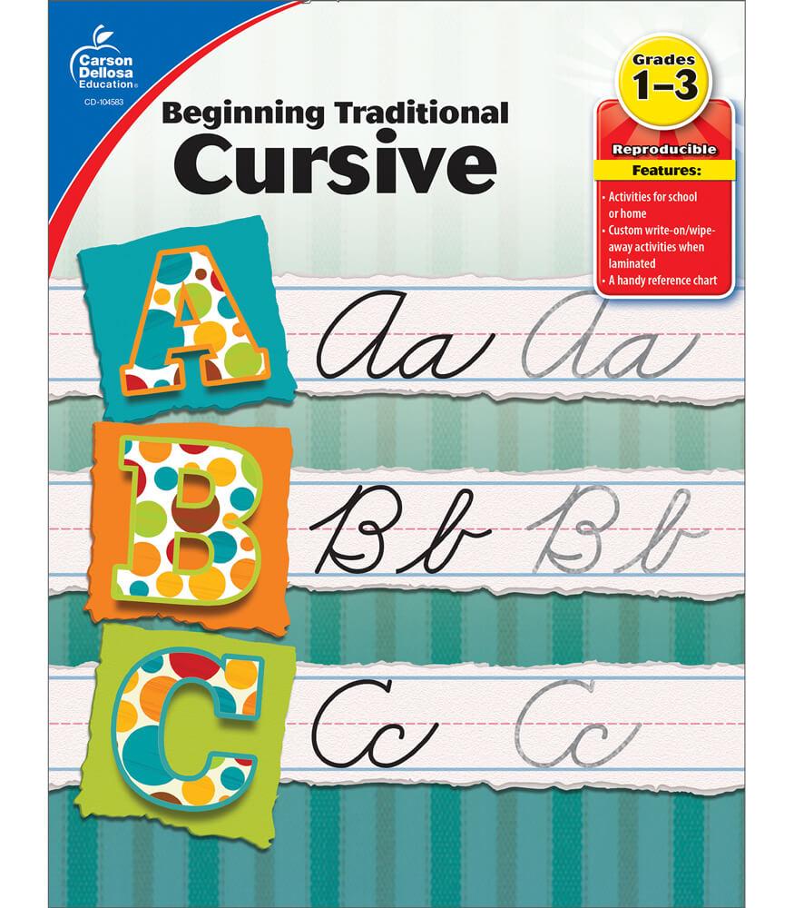 beginning traditional cursive workbook grade 1 3. Black Bedroom Furniture Sets. Home Design Ideas