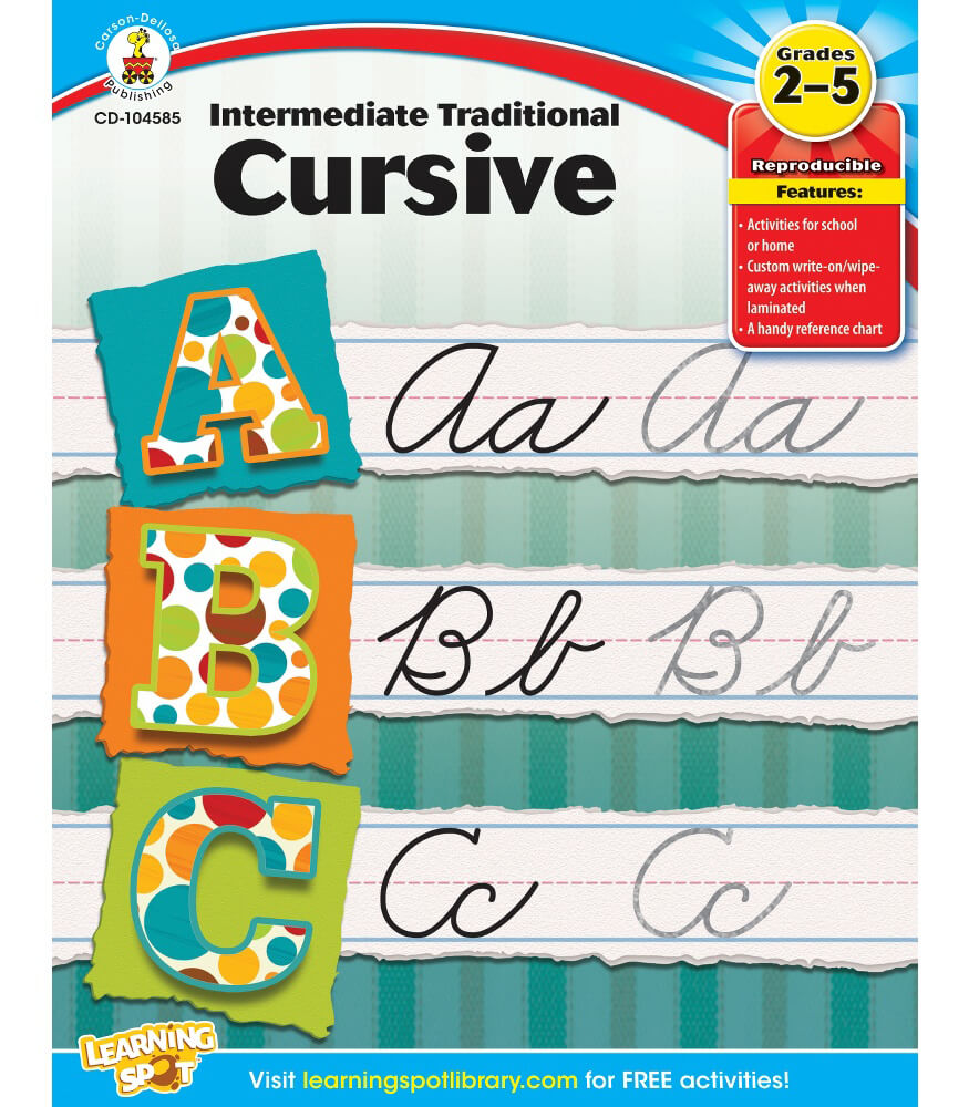 Intermediate Traditional Cursive Workbook Product Image