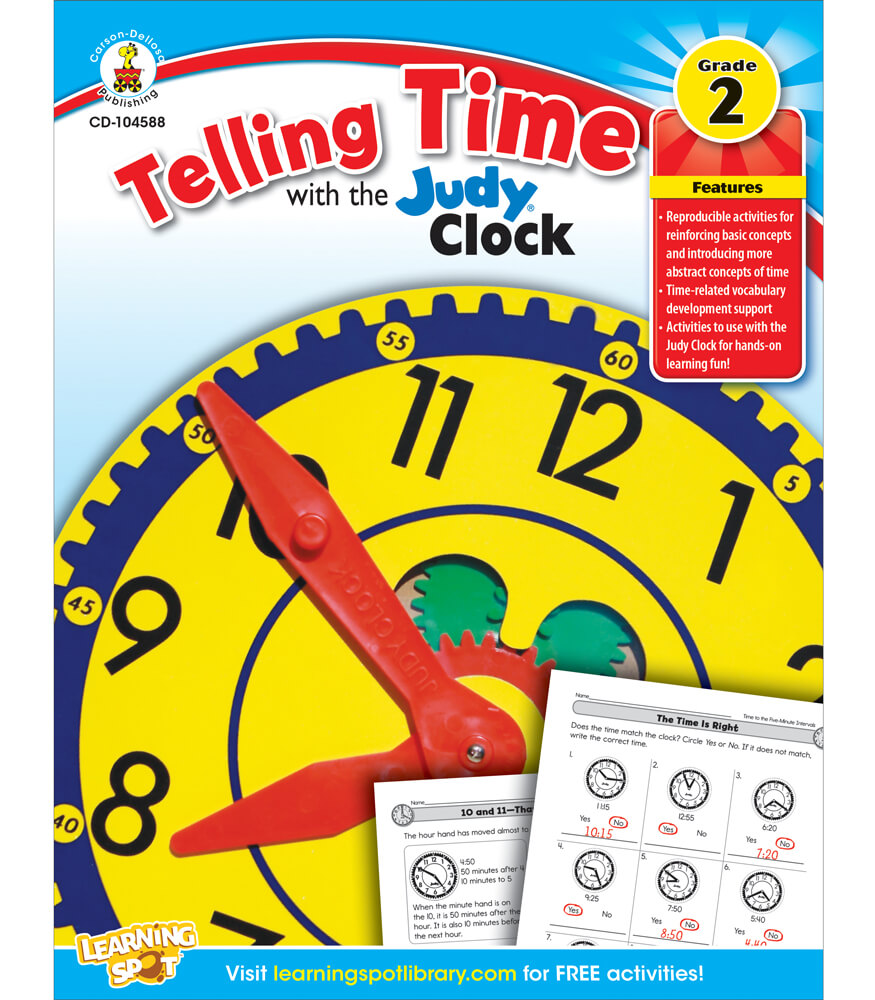 Telling Time with the Judy® Clock Workbook Product Image