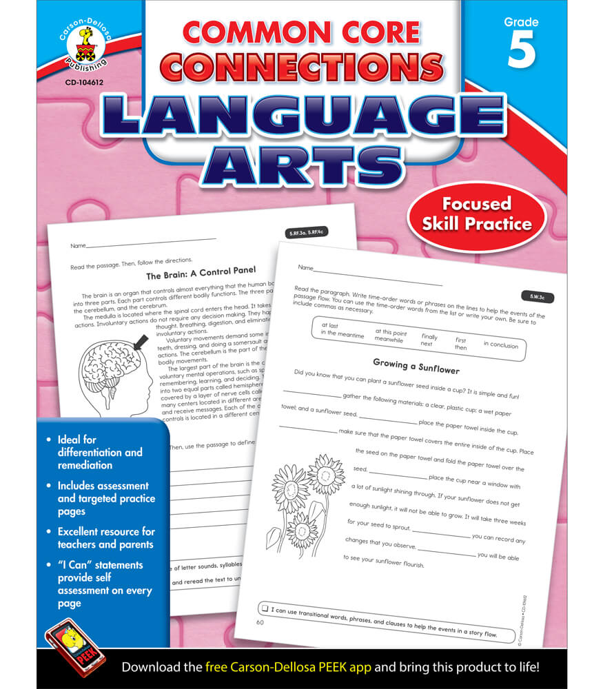 Common core connections language arts workbook grade 5 common core connections language arts workbook product image fandeluxe Image collections