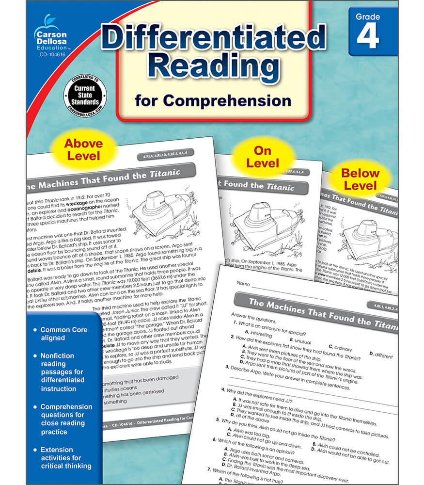 Differentiated Reading for Comprehension Resource Book Product Image
