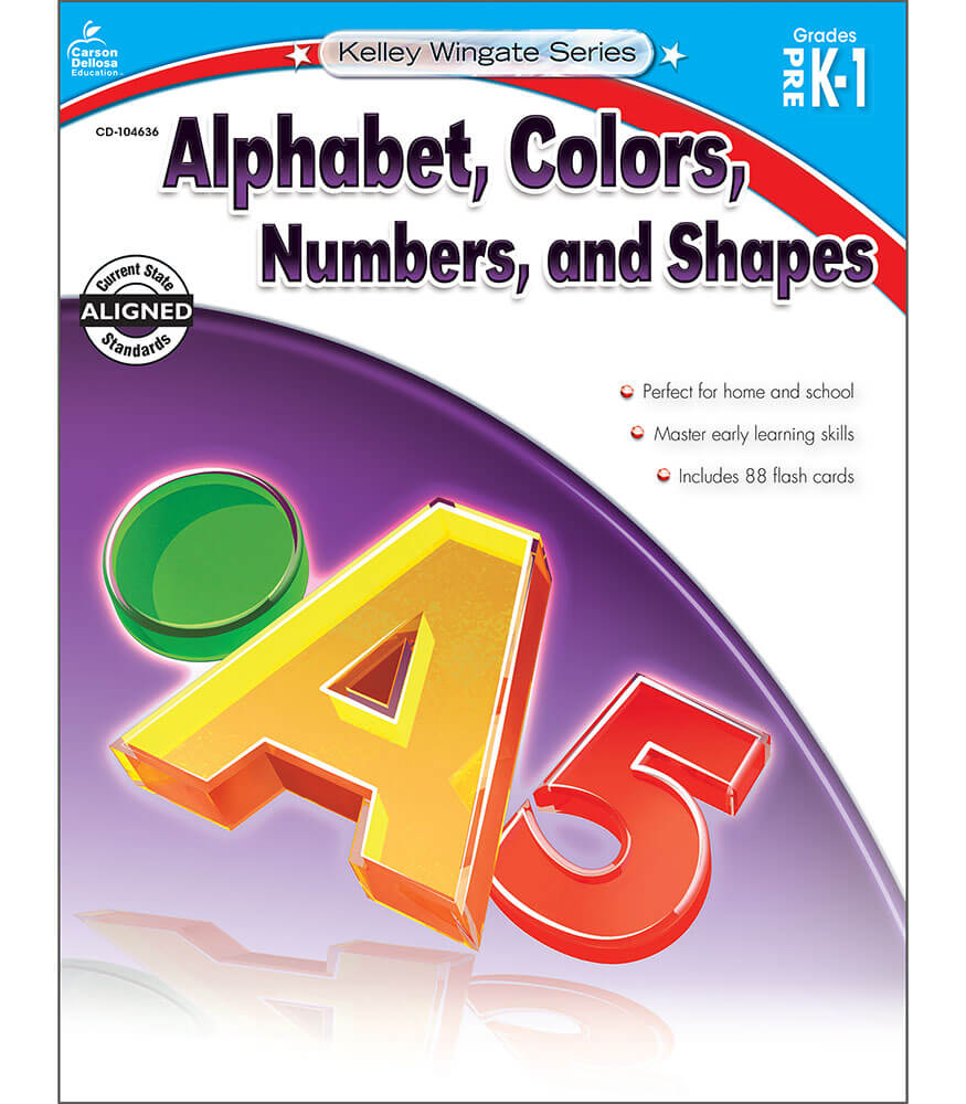 Alphabet, Colors, Numbers, and Shapes Workbook Product Image