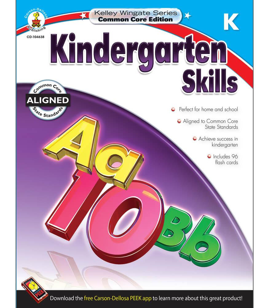 Kelley Wingate Kindergarten Skills Workbook Product Image