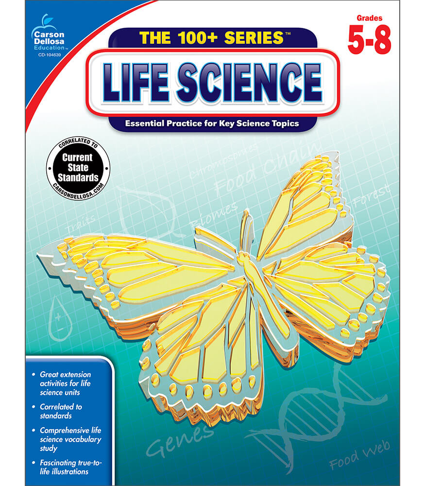 Workbooks physical science guided reading and study workbook : Life Science Workbook Grade 5-8 | Carson-Dellosa Publishing