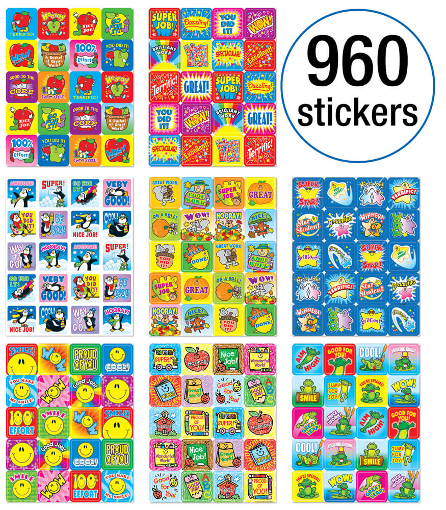 Motivational Sticker Set Sticker Collection Product Image