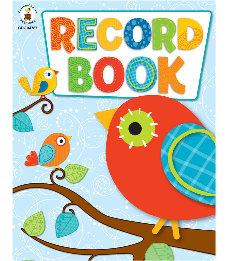 Boho Birds Record Book Product Image