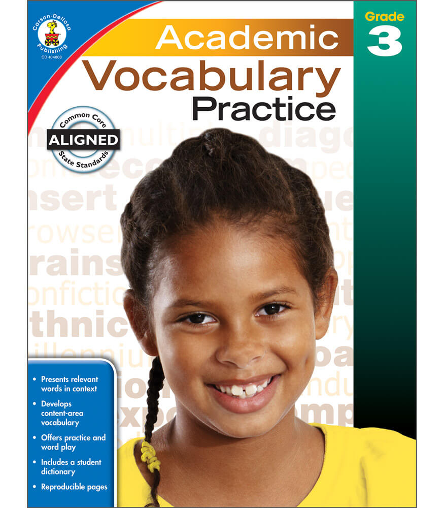 Workbooks practice workbook : Academic Vocabulary Practice Workbook Grade 3 | Carson-Dellosa ...