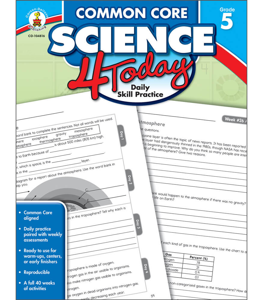 mon Core Science 4 Today Workbook Grade 5