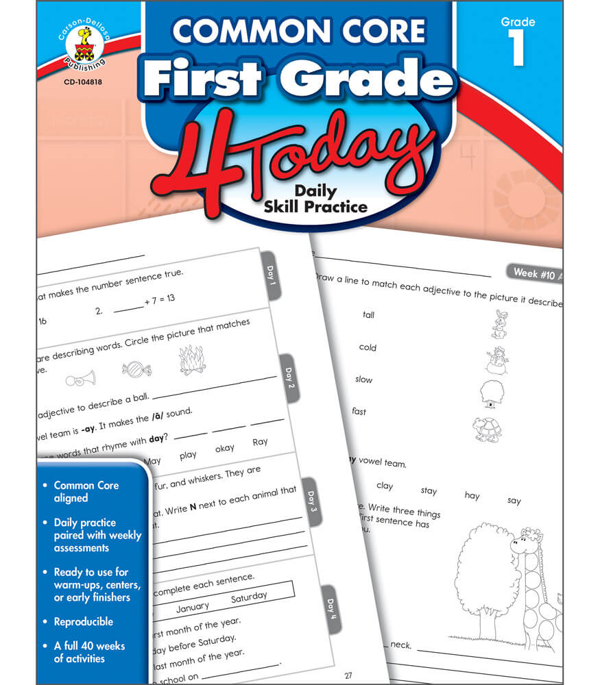 Common Core First Grade 4 Today Workbook Product Image