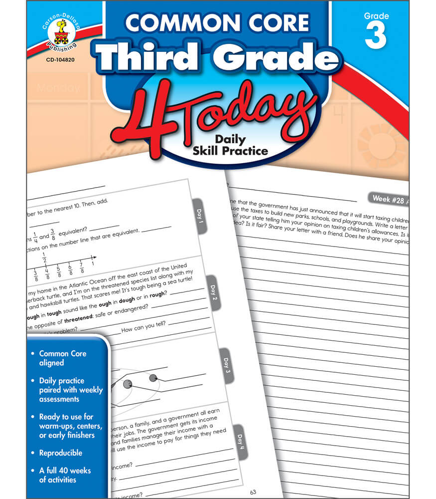 Common Core Third Grade 4 Today Workbook Product Image
