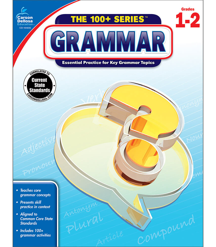 Workbooks kindergarten common core workbook : Grammar Workbook Grade 1-2 | Carson-Dellosa Publishing