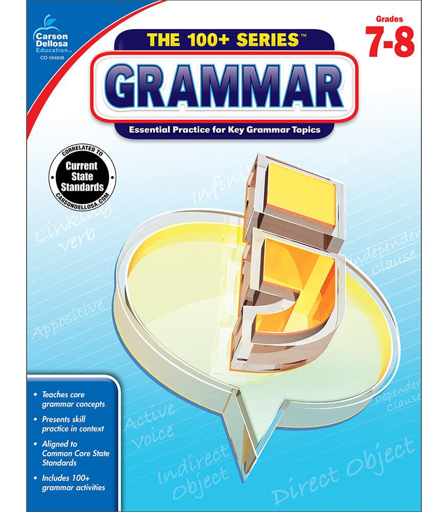 Grammar workbook grade 7 8 carson dellosa publishing grammar workbook fandeluxe Images