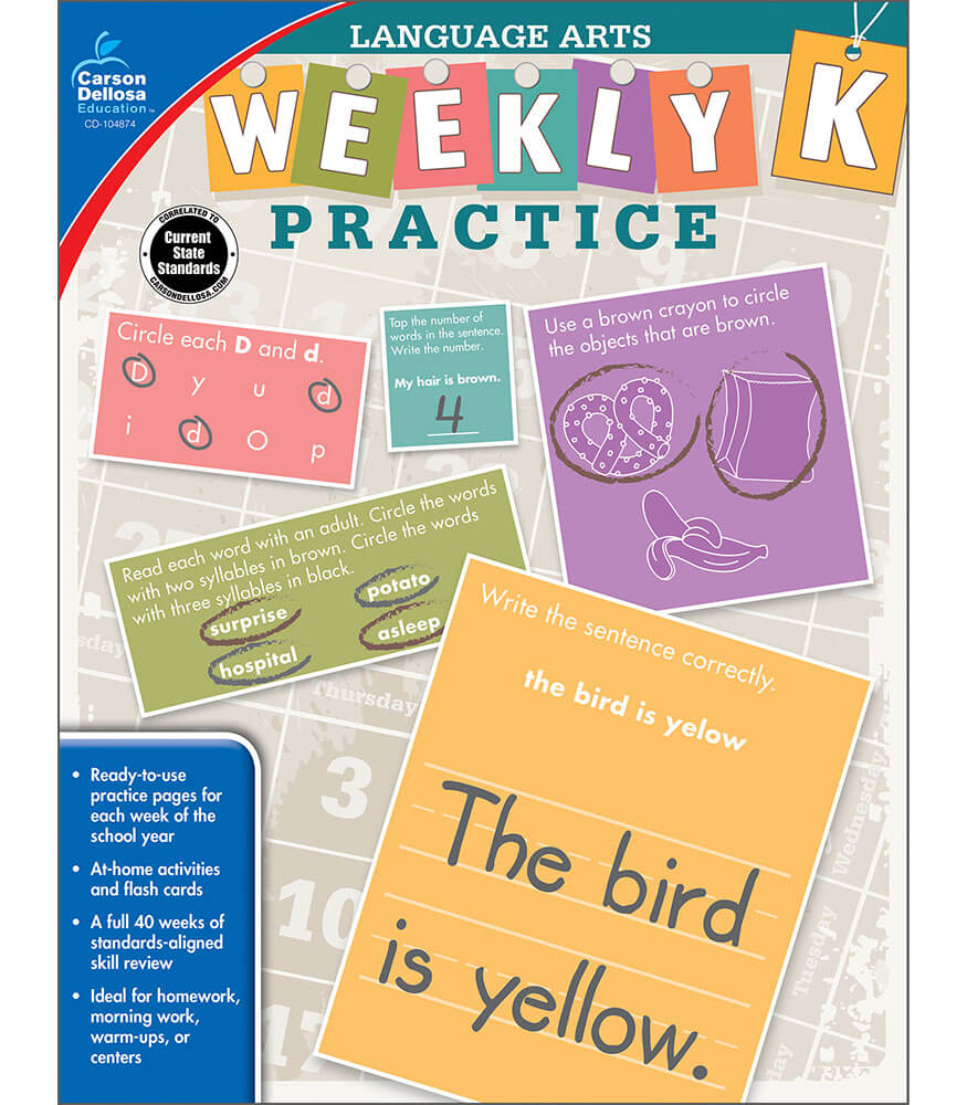 Weekly Practice: Language Arts Workbook Product Image