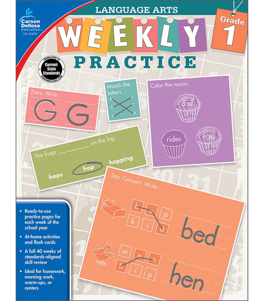 Weekly Practice: Language Arts Workbook Product Image