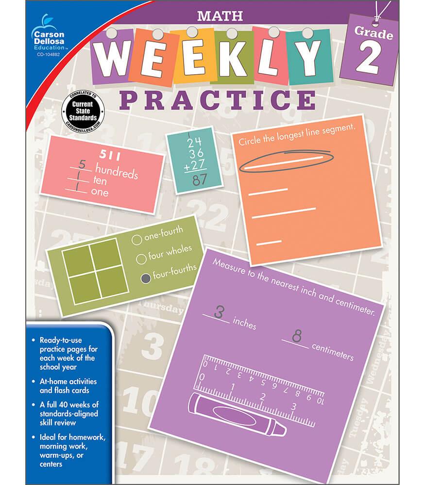 Weekly Practice: Math Workbook Product Image
