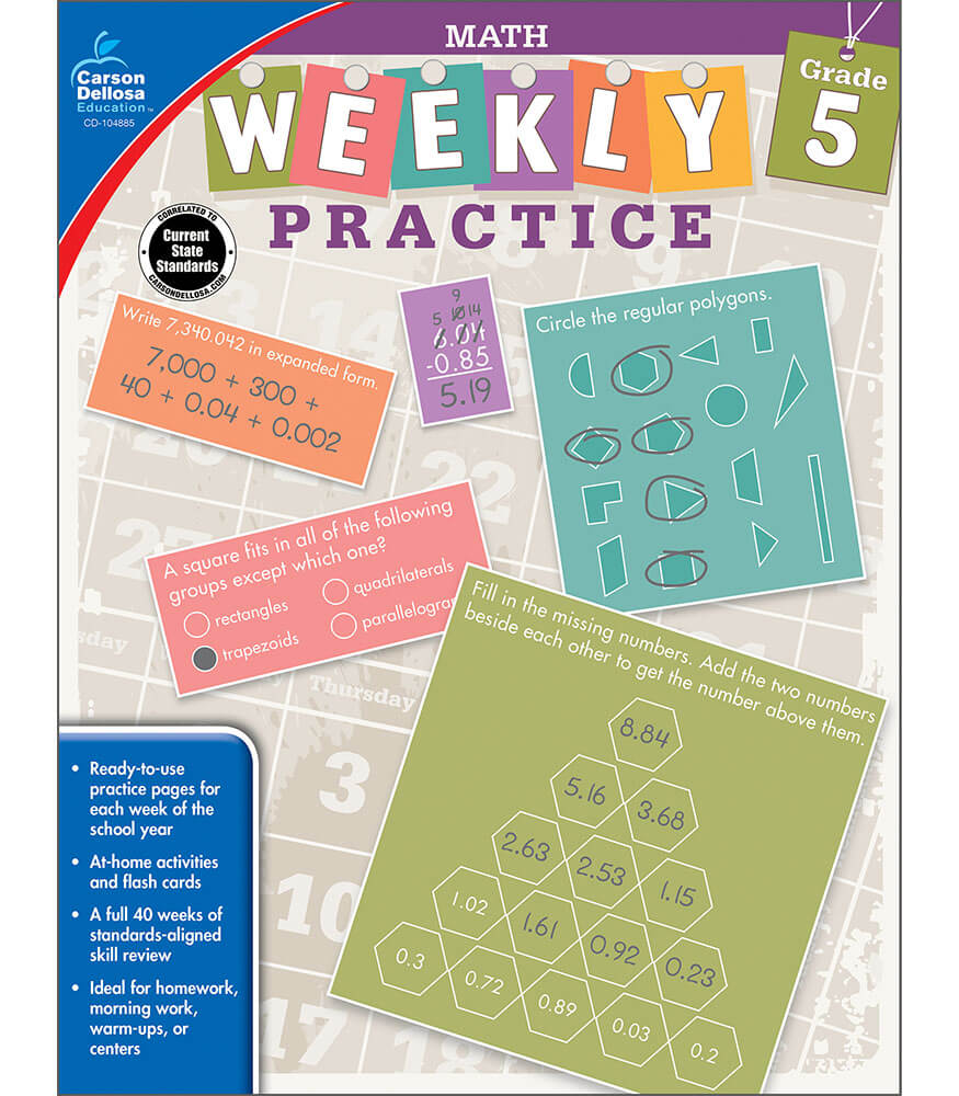 Weekly Practice: Math Workbook Product Image