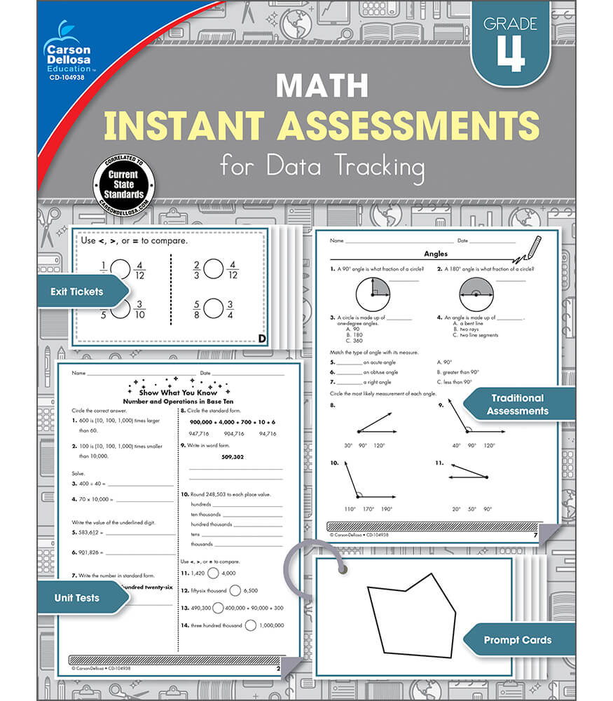 Math Instant Assessments for Data Tracking Resource Book Product Image