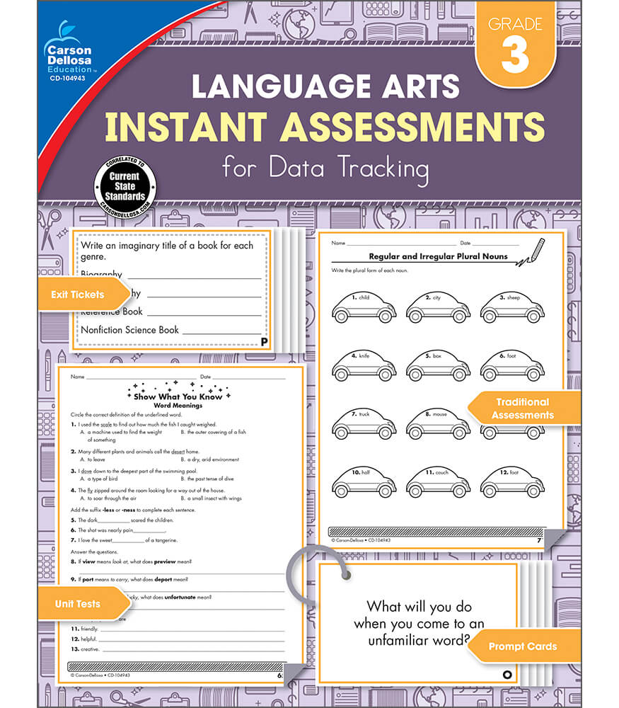 Language Arts Instant Assessments for Data Tracking Resource Book Product Image