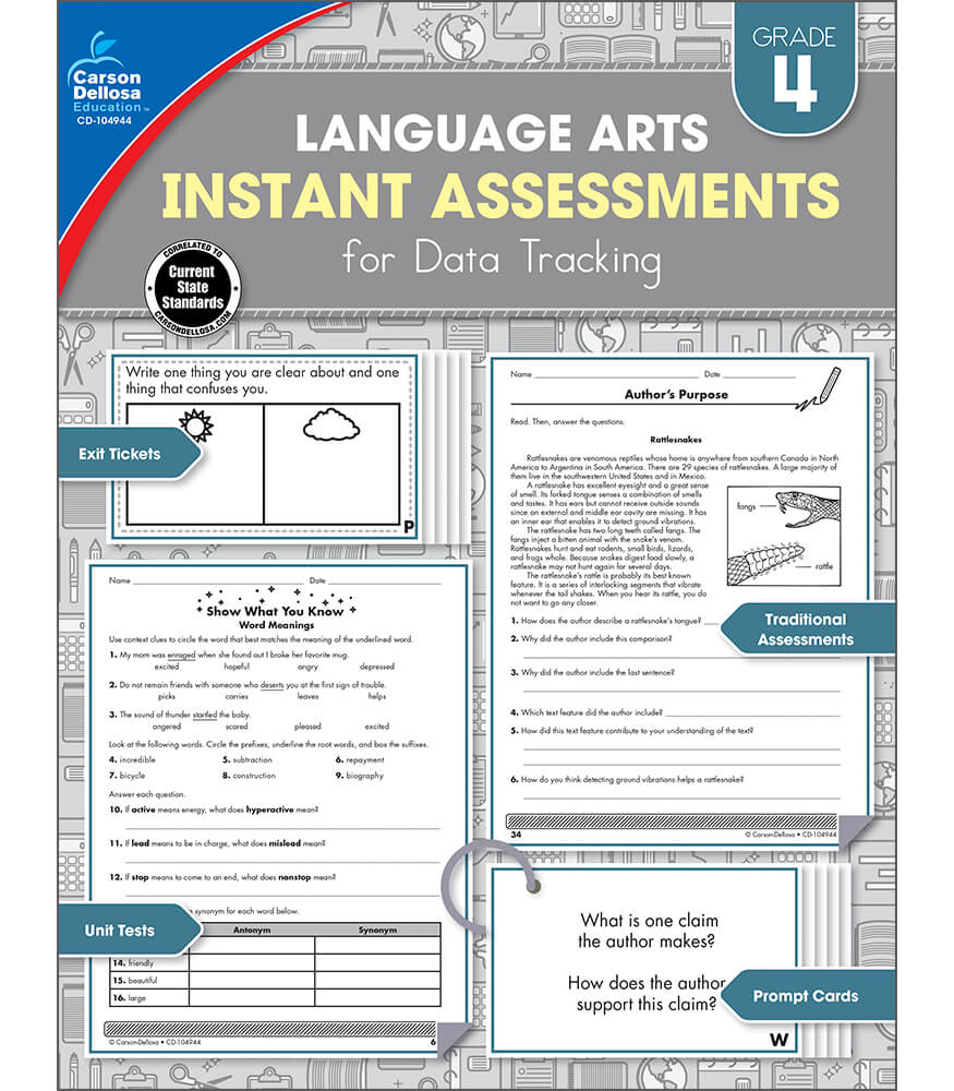 Instant Assessments for Data Tracking Resource Book Product Image