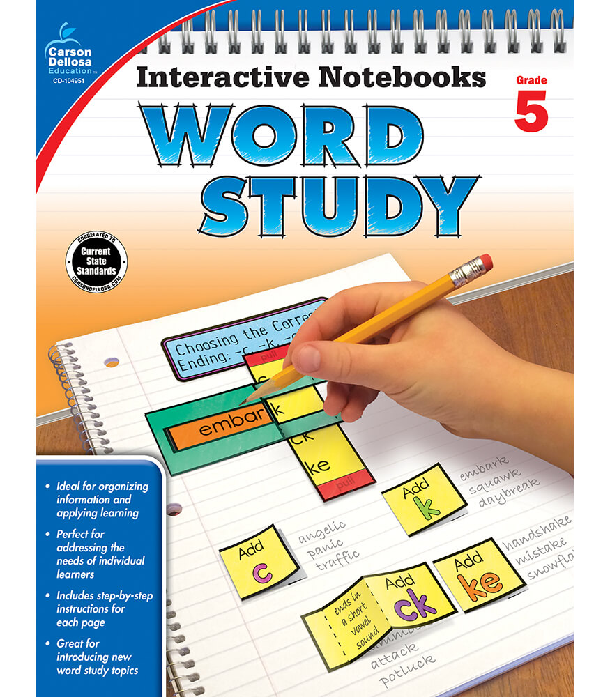Interactive Notebooks: Word Study Resource Book Product Image
