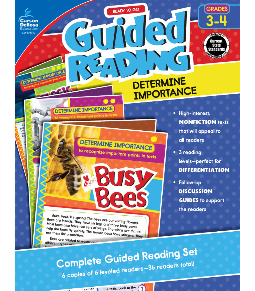Guided Reading: Determine Importance Resource Book Product Image