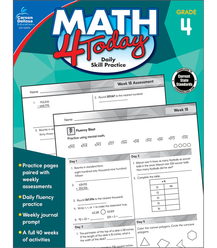 Math 4 Today Workbook