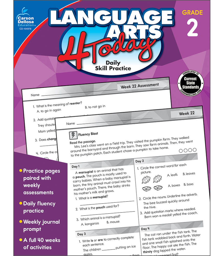 Language Arts 4 Today Workbook Product Image