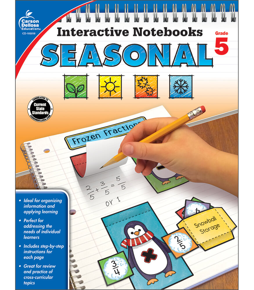 Interactive Notebooks: Seasonal Resource Book Product Image