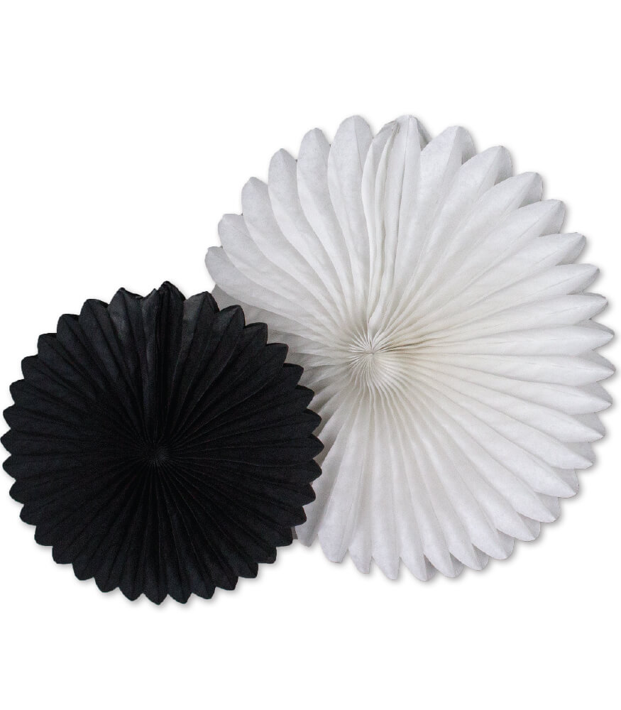Black and White Fans Dimensional Accent Product Image