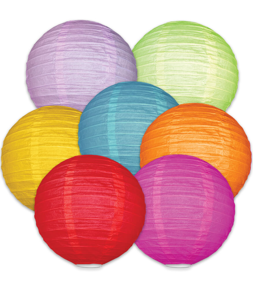 Colorful Lanterns Dimensional Accent
