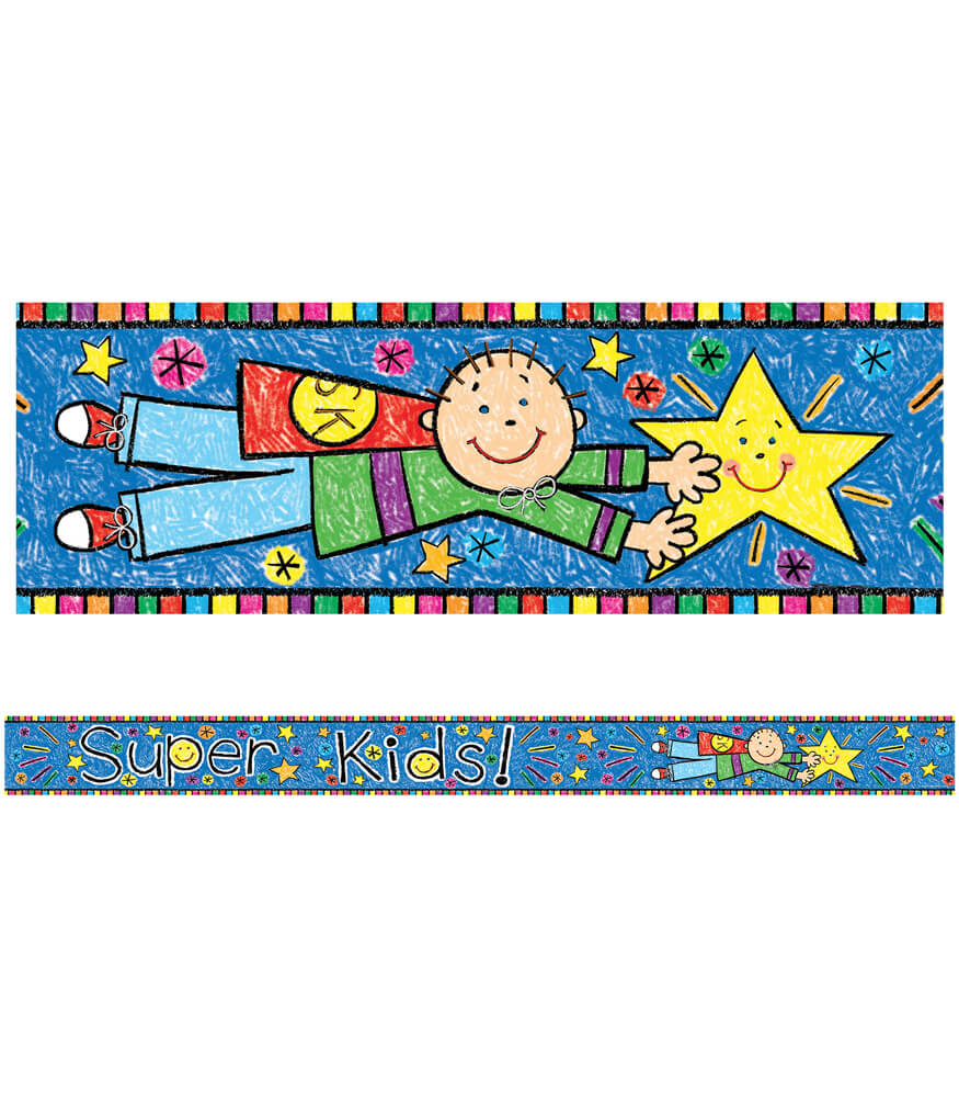 Super Hero Kids Straight Borders Product Image