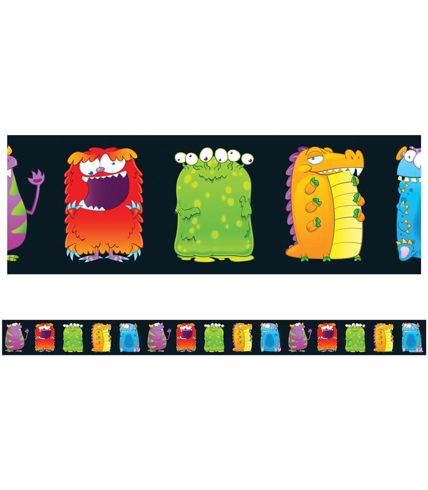 Monsters Straight Borders Product Image