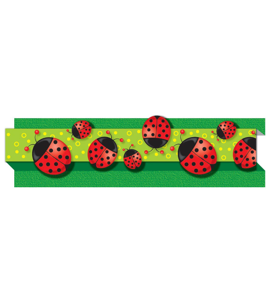Ladybugs Straight Borders