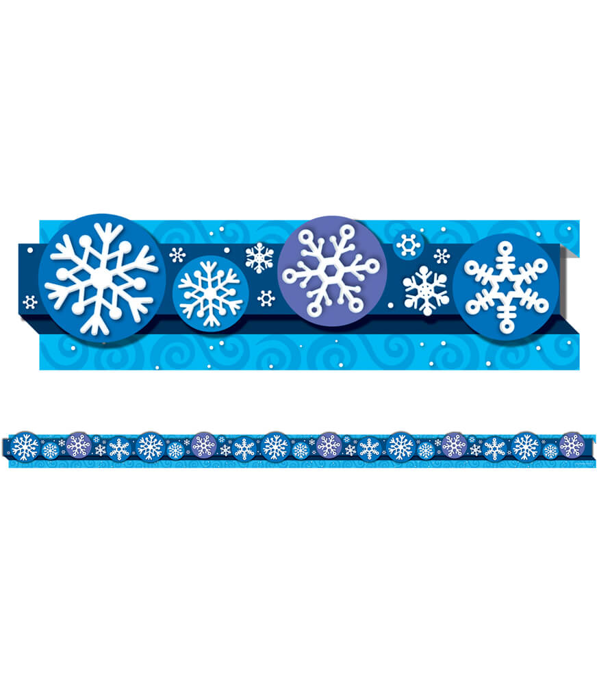 Snowflakes Straight Borders Product Image