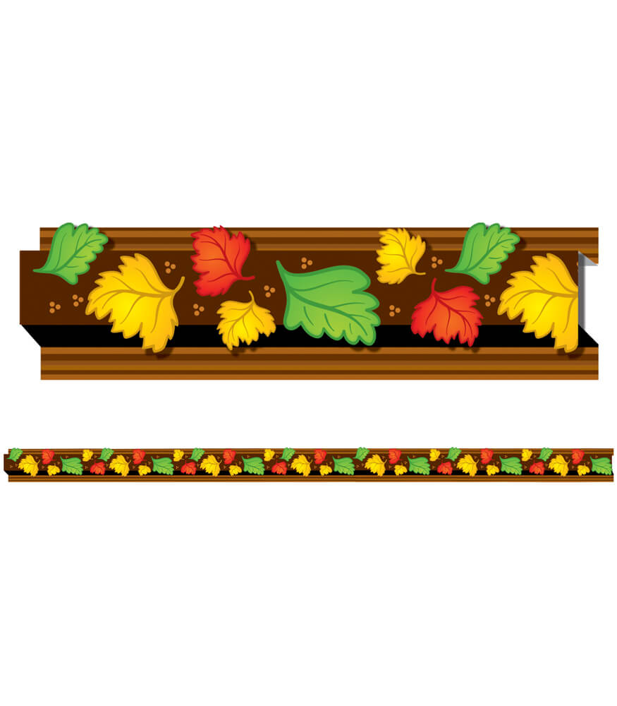 108044 Autumn Leaves Straight Borders 108044 on Thanksgiving Day Bulletin Boards