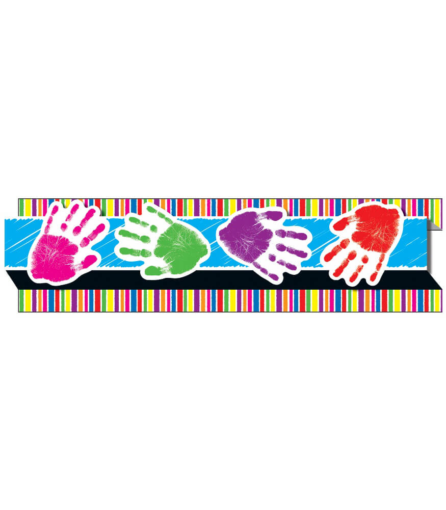 Handprints Straight Borders Product Image