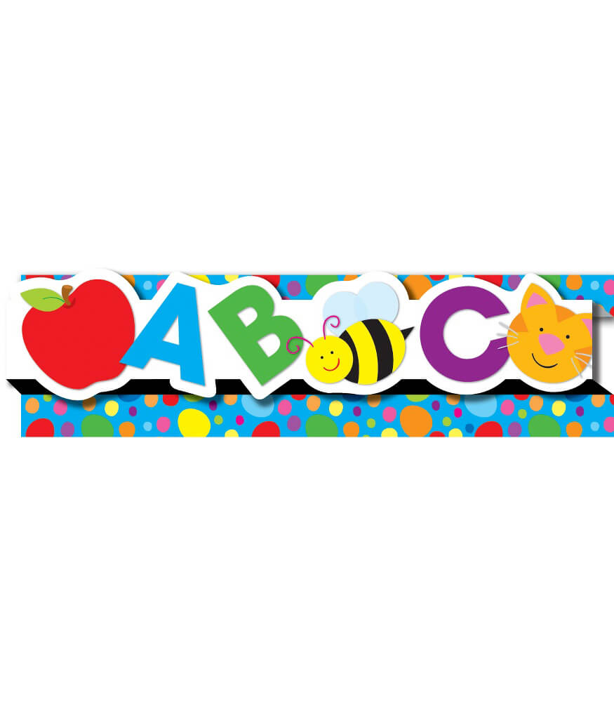 ABCs & 123s Pop-Its Straight Borders Product Image