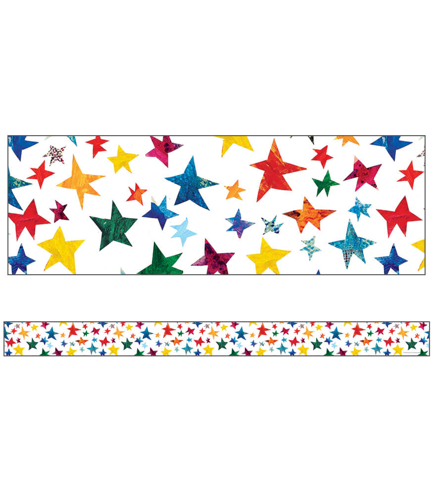 The World of Eric Carle Sparkling Stars Straight Borders