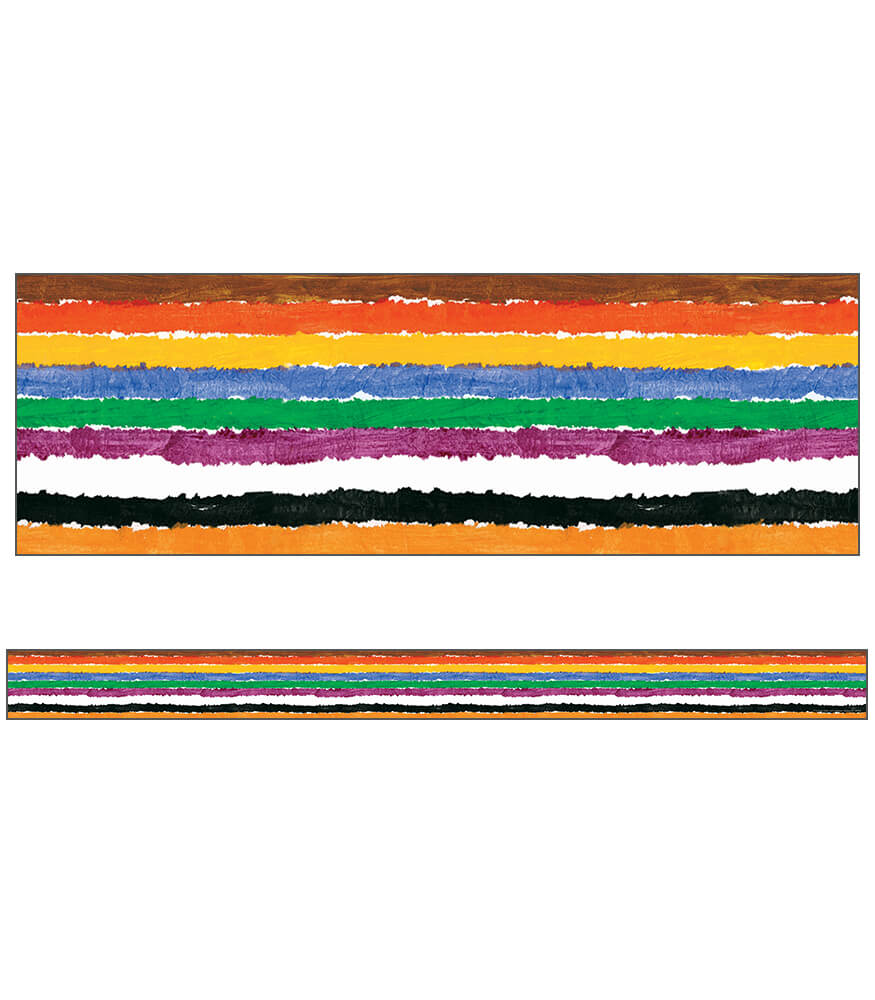 The World of Eric Carle Brown Bear, Brown Bear, Stripes Straight Borders Product Image