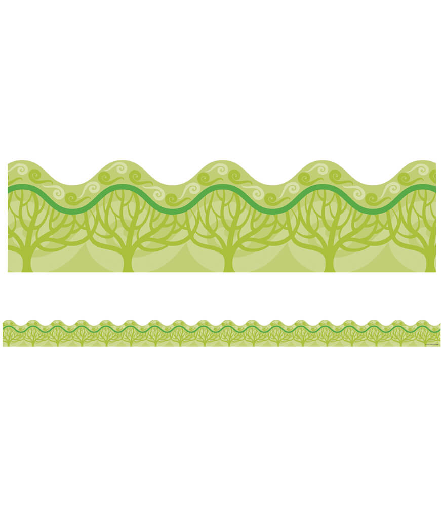 Eco-Trees Scalloped Borders Product Image