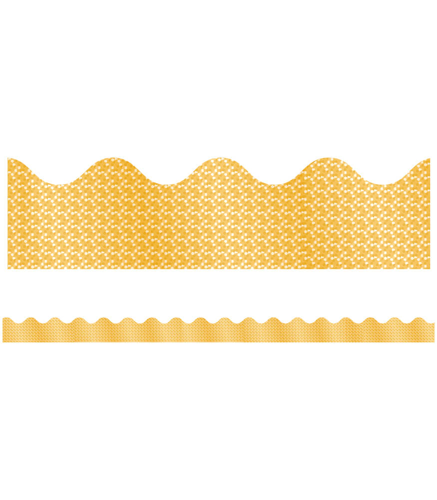 Yellow Sparkle Scalloped Borders Product Image